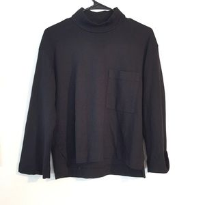 Stateside Top Black Knit Pullover Cotton Shirt XS